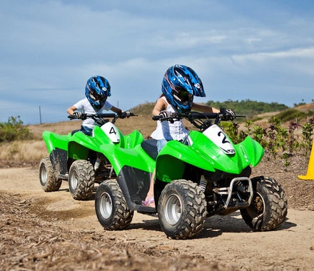 Kids will love the activities - quad biking - Hamilton Island family holiday