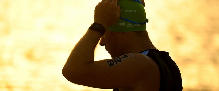 Delly Carr Triathlon and Ocean Swim catseye beach morning