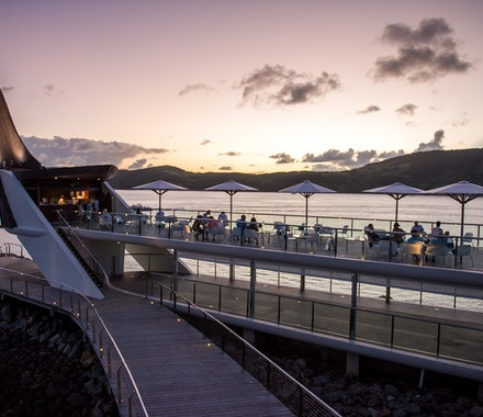 Bommie Deck at Hamilton Island at sunset TWS Visuals