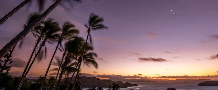 Sunset at one tree hill on Hamilton Island TWS Visuals