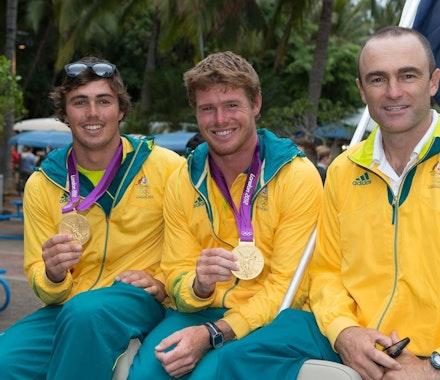 The Australian Olympic Sailing Team on Hamilton Island