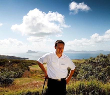 Rob Blain - Golf Pro Player enjoying his golf holiday on Hamilton Island