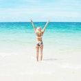 Lisa Hamilton SeeWantShop bikini at whitehavenbeach