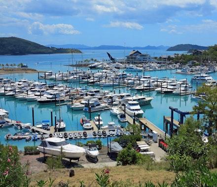 Hamilton Island marina for super yachts