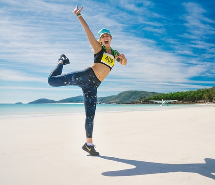 Great Whitehaven Beach run funrun hamilton island