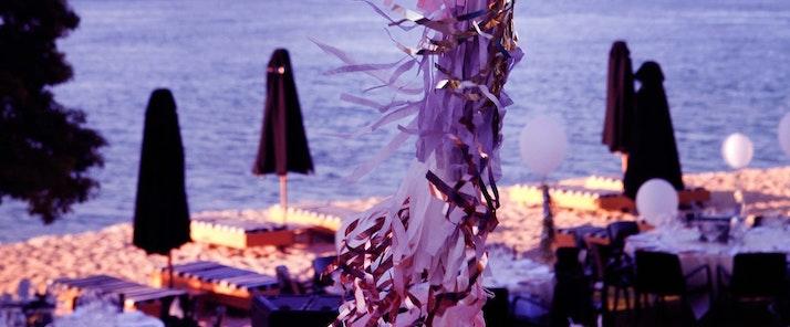 Festive Vogue Living Champagne Dinner on Hamilton Island beach resorts