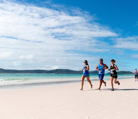 Hamilton Island Great Whitehaven Beach run