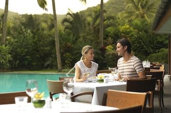 Enjoy a casual meal on the pool terrace - Hamilton Island deal