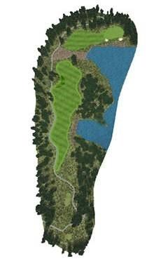 Golf Course Hole 9 Dent Island - Hamilton Island golf holidays