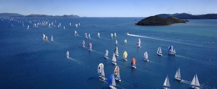 Yachts racing at Audi Hamilton Island Race Week