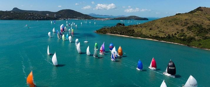 Fleet of yachts on the water - Audi Hamilton Island Race Week - Hamilton Island holidays