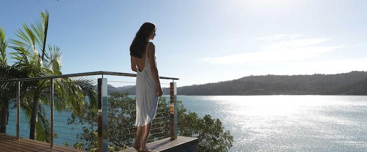 Windward Pavilion plunge pool - views over the Whitsundays - Hamilton Island Australia