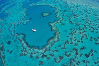 See the renowned Heart Reef in the Great Barrier Reef - holidays Hamilton Island