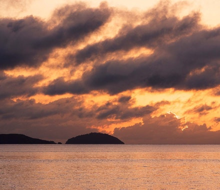 Hamilton Island luxury resort - see the beautiful sunset from anywhere on Hamilton Island