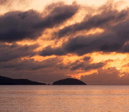 Hamilton Island luxury resort - see the beautiful sunset from anywhere on Hamilton Island